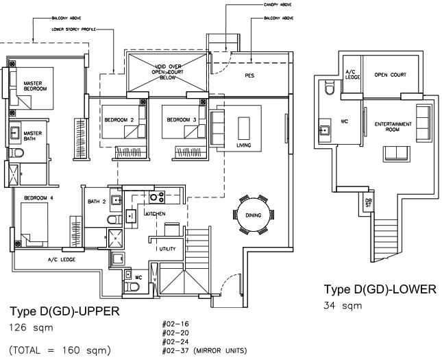Sea Horizon EC Floor Plans 5 Bedroom Garden Duplex
